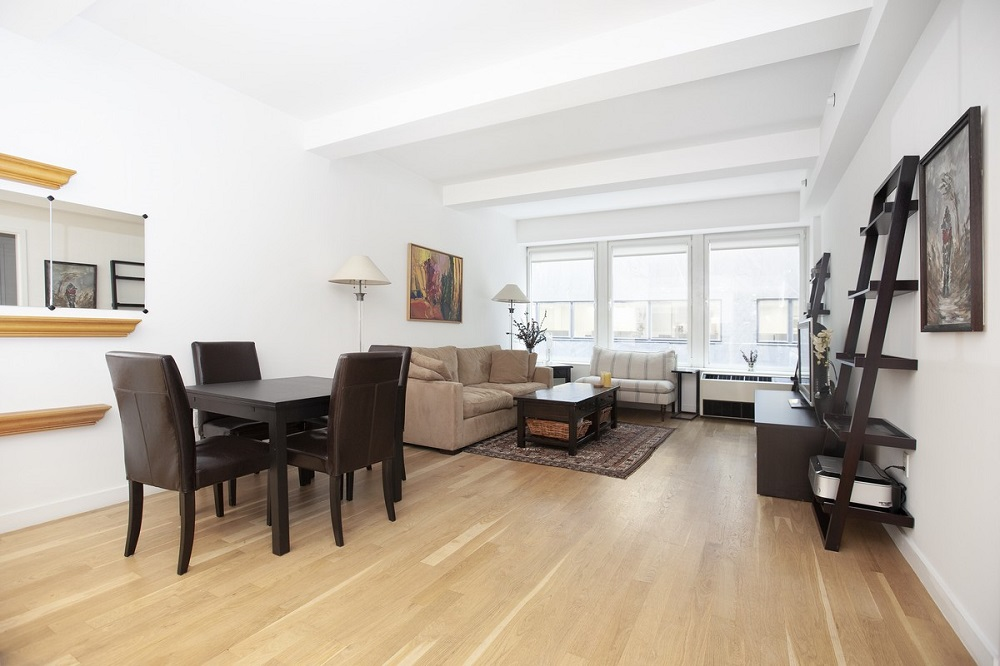 New to Market: No Fee; Large, renovated one bedroom plus alcove/office/guest room with 2 full baths in the full service BE @ Willam Condominium. Centrally located in the exciting residential renaissance of FIDI and close to all transportation, Whole Foods, top restaurants, east river waterfront and parks. The apartment features; separate private storage unit, north facing, white oak hardwood floors, 9 ' + ceilings, large double panel insulated windows, tremendous amout of closets/storage   throughout  and thru wall ac/heat units. The chef's kitchen has top of the line stainless steel appliances, white glacier countertops and laquer cabinetry that opens into the 22'11 X 13'4 living/dining room. Master bedroom (13'3 X 10'9) has a walk in closet and en-suite bathroom outfitted with kohler and watermark fixtures. There is a spacious separate alcove that can easily be an office/guest room. The condo offers 24 hour doorman, be @ spot landscaped outdoor sky terrace & lounge with a grill, wet bar, outdoor fireplace, entertainment center, rooftop gym & laundry. Available immediate with board approval. Call for appt.